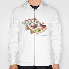 Kawaii California Roll and Sushi Shrimp and Tuna Nigiri Hoody
