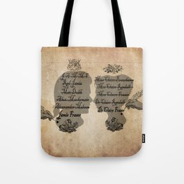 All the names of the Frasers Tote Bag