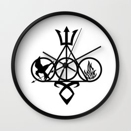 symbol harry potters and Catching fire Wall Clock