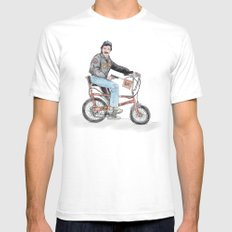 Tom Selleck Mens Fitted Tee White SMALL