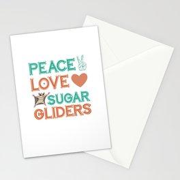 Sugar Glider Hippie Stationery Cards