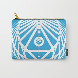 Radiant Abundance (cyan-white) Carry-All Pouch