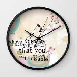 Above All You are Loved Wall Clock