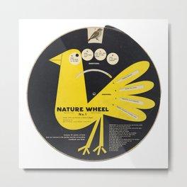 Junior Ornithology Wheel Metal Print