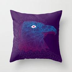 Titanium eagle Throw Pillow