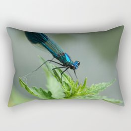 Blue dragonfly Rectangular Pillow
