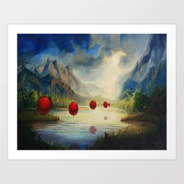 March of the Red Balloons #1 Art Print