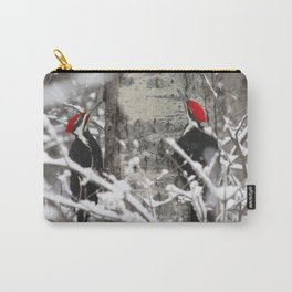 Woodpeckers in Winter Carry-All Pouch