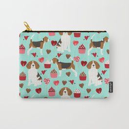 Beagle valentines day cupcakes heart love dog breed must have gifts Carry-All Pouch