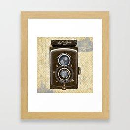 Yellow Vintage Camera Art Framed Art Print
