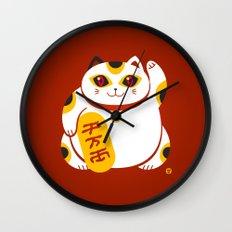 Lucky Cat 2 Wall Clock