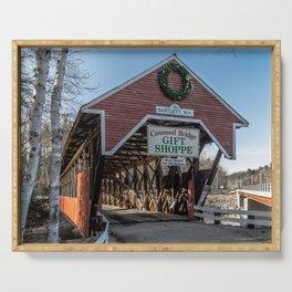Bartlett Covered Bridge Bartlett New Hampshire Serving Tray