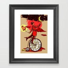 Solving Time  Framed Art Print