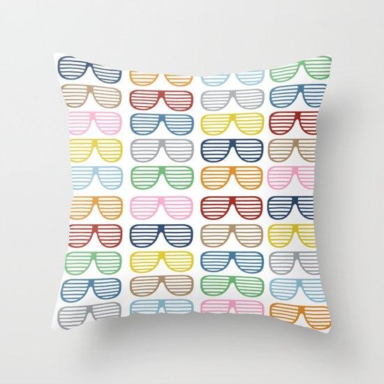 Rainbow Shutter Shades Throw Pillow