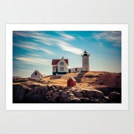 The Nubble Cape Neddick Lighthouse York Beach Maine New England Light Station Art Print