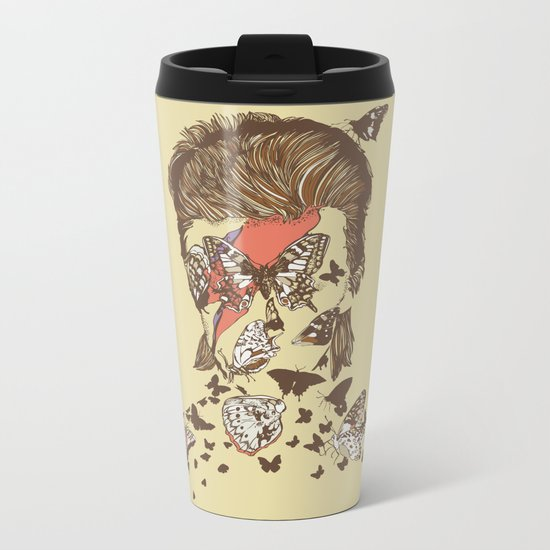 FACES OF GLAM ROCK Metal Travel Mug