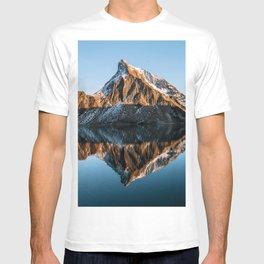 Calm Mountain Lake at Sunset - Landscape Photography T-shirt