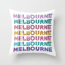 Melbs Throw Pillow