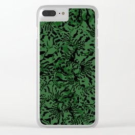 GREEN TRIDANCA Clear iPhone Case