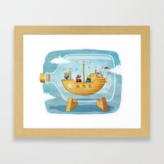 AIRSHIP IN A BOTTLE Framed Art Print