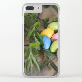 Easter Eggs 20 Clear iPhone Case