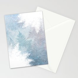 Fern Snowflakes - Taupe, Aqua & Blues Stationery Cards