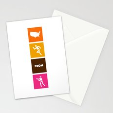 America Runs From Zombies Stationery Cards