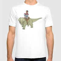 A Boy and his Dinosaur White SMALL Mens Fitted Tee