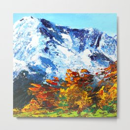 Beautiful Mountain Art Metal Print