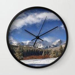 Rocky Mountain Park  by Lena Owens Wall Clock