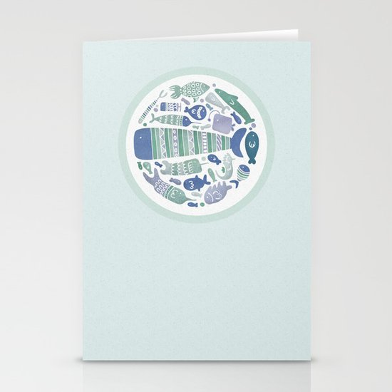 Little Fishes Stationery Cards