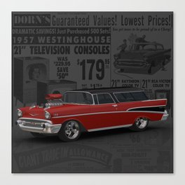 1957 #Chevy #Nomad Hot Rod Canvas Print