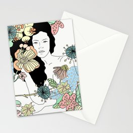 Flower Maiden Blossom Stationery Cards