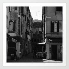 Calle Marcello b&w Art Print