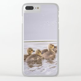 Swimming Lesson Clear iPhone Case