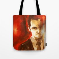 moriarty Tote Bags featuring Jim Moriarty by AkiMao