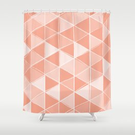 Coral Triangles Shower Curtain