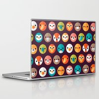eat Laptop & iPad Skins featuring SMILEY FACES 1 by Daisy Beatrice