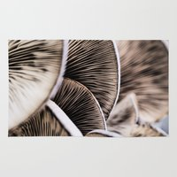 mushrooms Area & Throw Rugs featuring Mushrooms by Kathy Dewar
