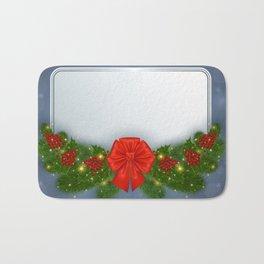 Christmas card Bath Mat
