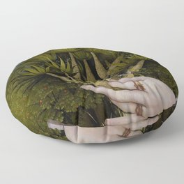 """The hands of Bosch and the Spring"" Floor Pillow"