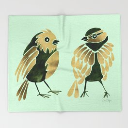 24-Karat Goldfinches Throw Blanket