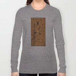 Cute little animal on wood Long Sleeve T-shirt