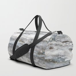 Marble 02, Blue and White Duffle Bag