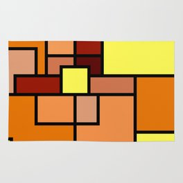 The Colors of / Mondrian Series - Lion King  Rug