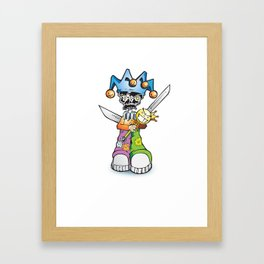 skull clown Framed Art Print