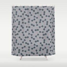I LOVE STRENGTH (Light Background Option) Shower Curtain