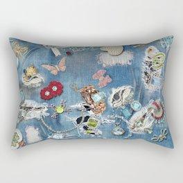 Jeans Bling Rectangular Pillow
