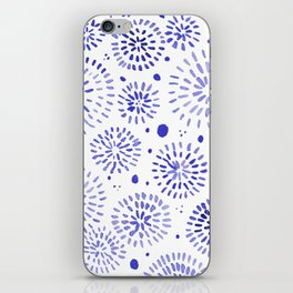 Abstract watercolor sparkles – blue iPhone Skin