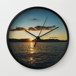 Sunset over Lake of the Ozarks  Wall Clock